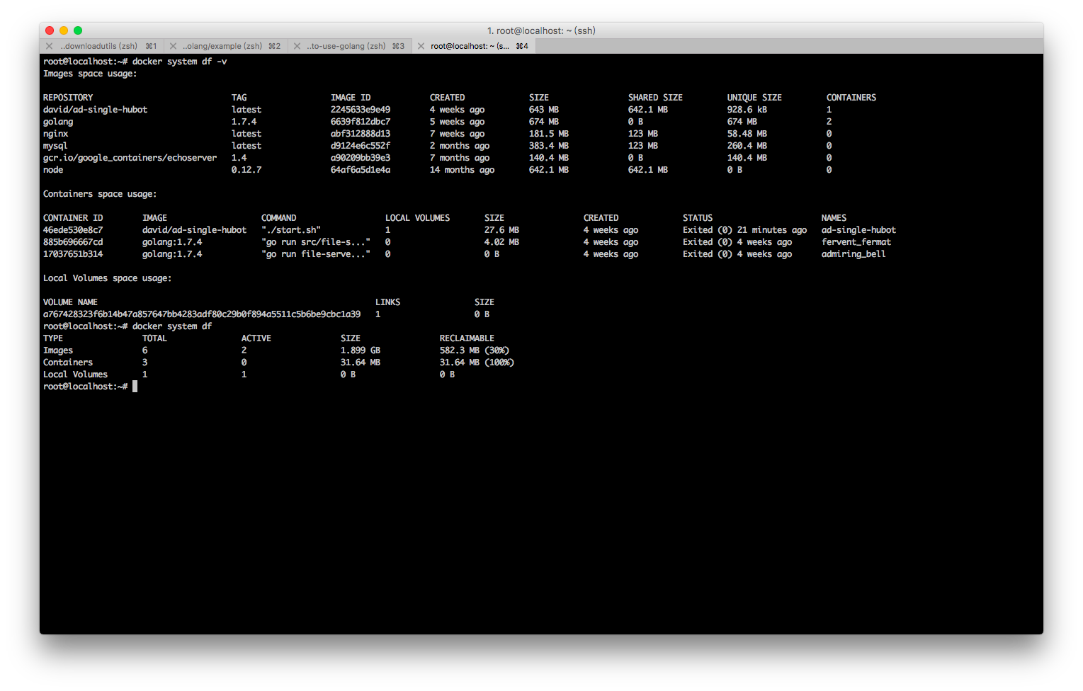 docker 1.13中docker system df的浅析(更新)